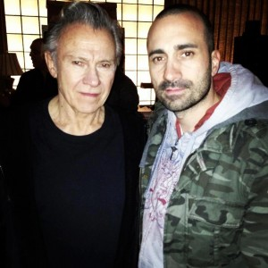 With Harvey Keitel on the set of -God Knows what