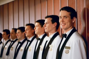 Crystal Cruises(TM) European-trained waiters stand at the ready to serve. (PRNewsFoto-Crystal Cruises)