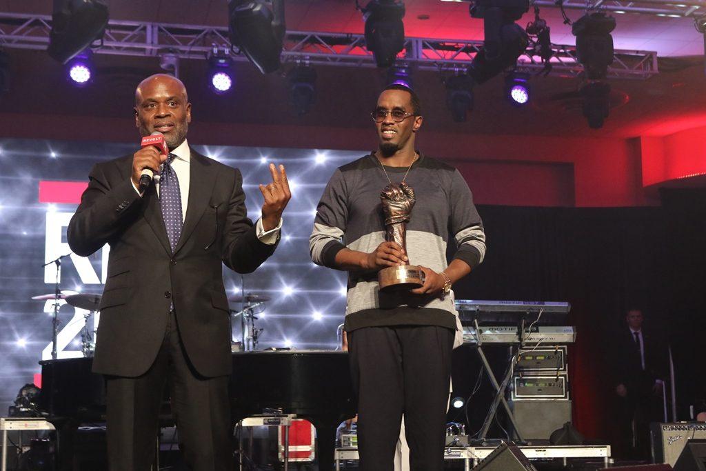 Antonio LA Reid And Sean Combs At REVOLT Music Conference 2014