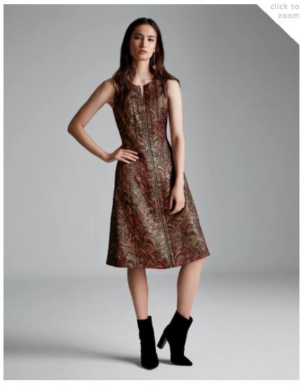 Brocade Celinda Dress and Cadwin Bootie